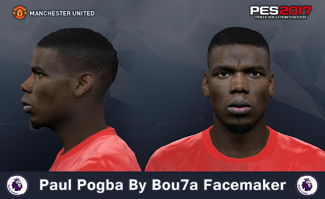Face Paul Pogba PES 2017 By Bou7a Facemaker