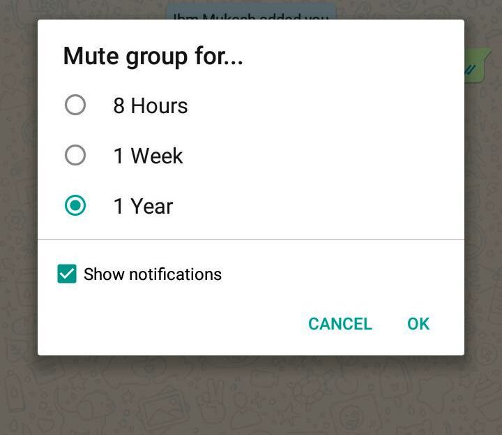 whatsapp trick to mute the group notification
