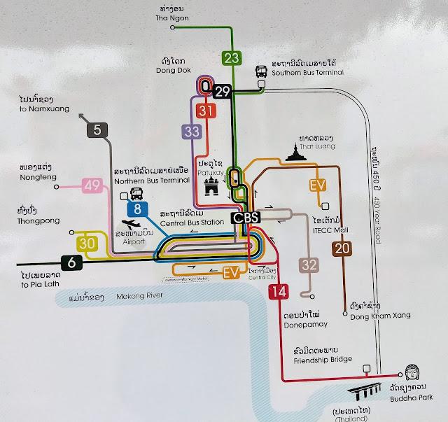 bus route vientiane laos