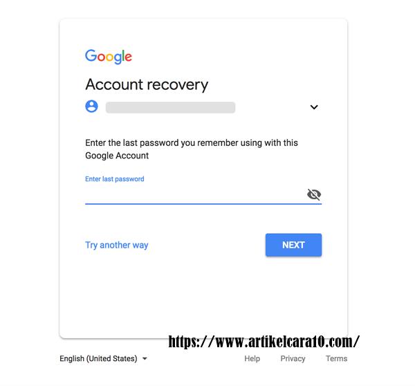 cara mengatsi password gmail yang lupa
