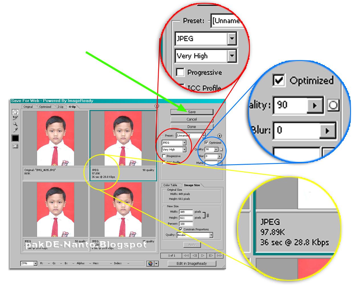 Cara mengecilkan ukuran foto menjadi 100 kb  BHIBIT ARIANTO