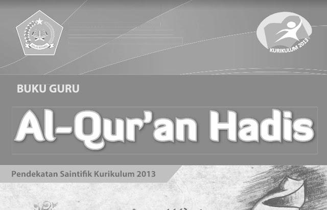 Inilah Buku Al-Quran Hadis Untuk Guru Dan Siswa Kelas 8 MTs
