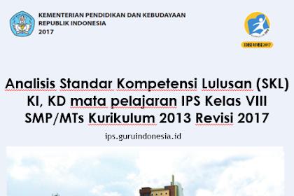 Analisis SKL,KI,KD dan Materi Pembelajaran Ilmu Pengetahuan Sosial Kelas VIII SMP/MTs Kurikulum 2013 Revisi 2018