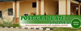 FUOYE Postgraduate Admission Form 2019/2020 | M.Sc, Ph.D & PGD