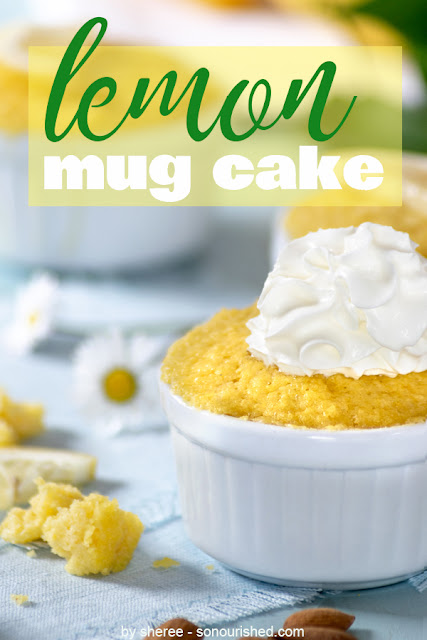 Easy Lemon Mug Cake-Delicious dessert for Thanksgiving Day