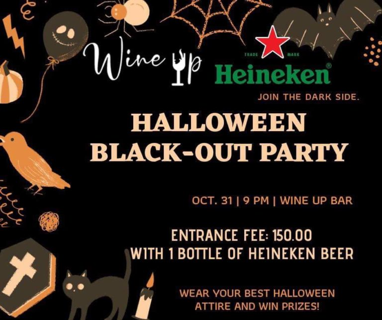 Party and Unwind at Wine Up Bar During their Halloween Black-Out Party Last October 31, 2019!