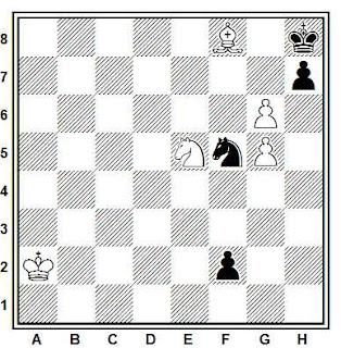Estudio artístico de ajedrez compuesto por Gleb Nikolaevich Zajodiakin (Shakhmatny Listok, 1930)