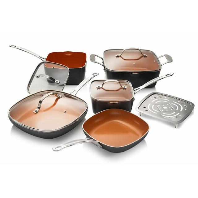 Gotham Steel 10 Piece Ceramic Non Stick Cookware Set