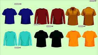 Desain Mentahan Kaos Polos PNG Warna Keren - kanalmu