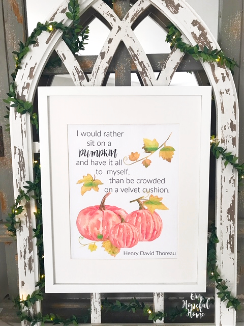 white frame cathedral arch pumpkin printable