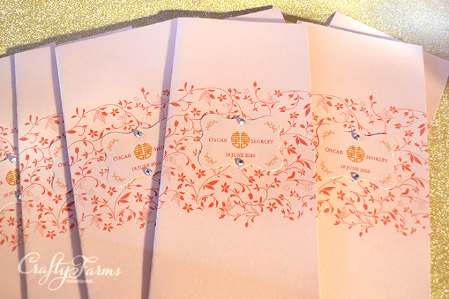 Red Florals Wedding Invitation Cardsm