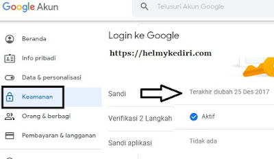 cara ganti password akun gmail
