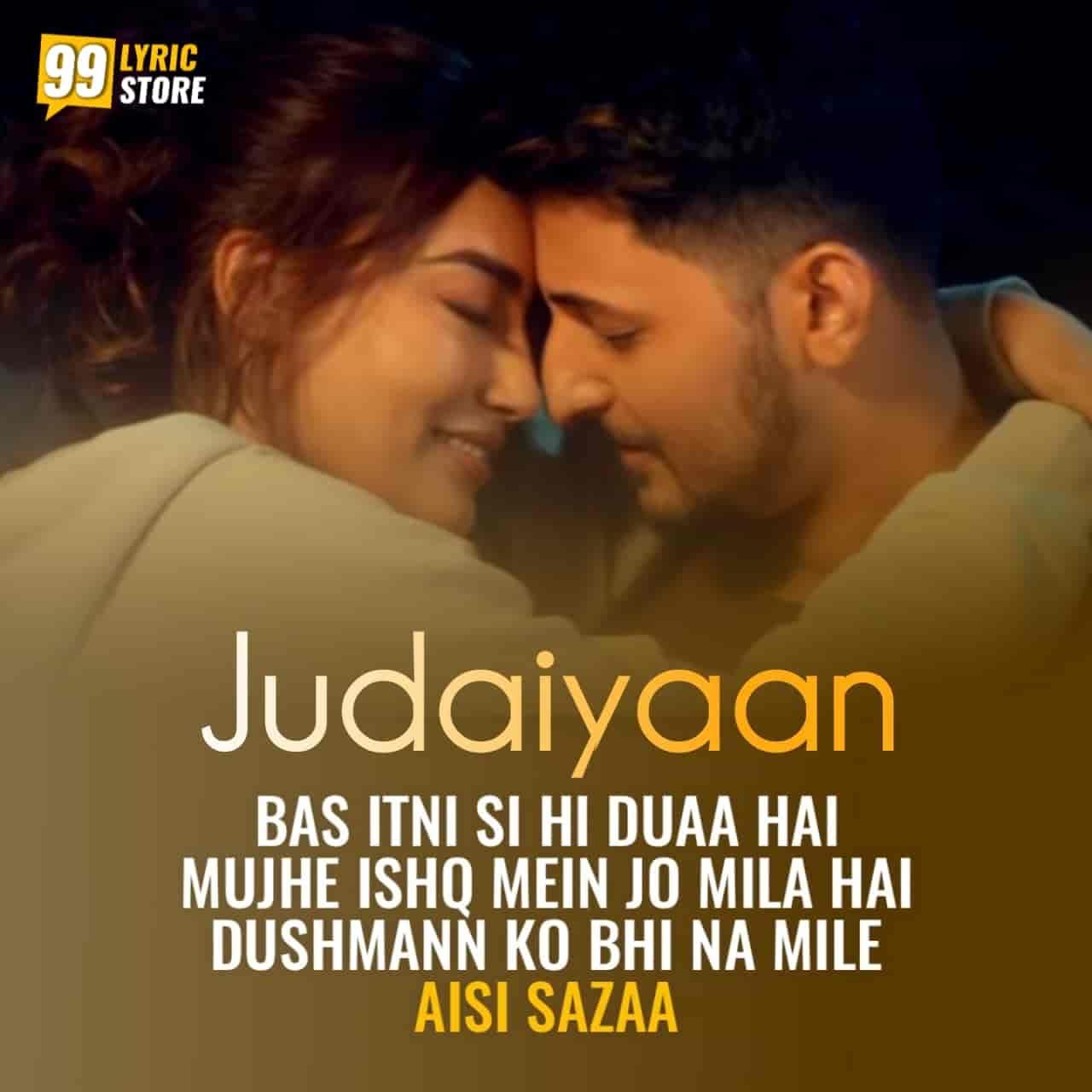 Judaiyaan Hindi Song Image Features Darshan Raval and Surbhi Jyoti