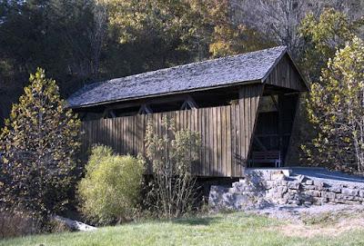 Indian Creek Covered Bridge in Monroe County, West Virginia