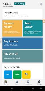 GetBarter app homepage