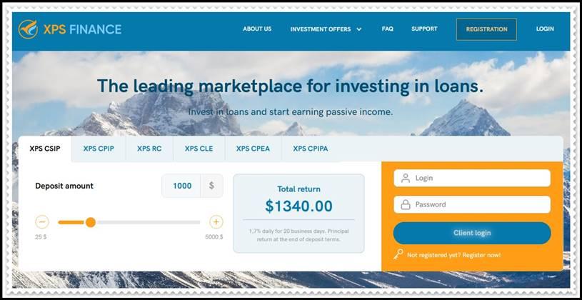 Мошеннический сайт xpsfinance.com – Отзывы, развод, платит или лохотрон? Мошенники