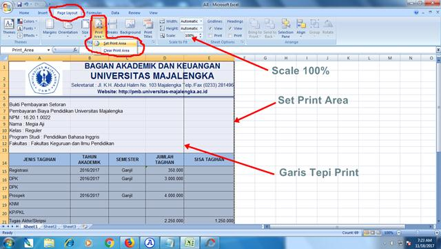 Cara Print Dokumen Excel Sesuai Kertas Tanpa Terpotong