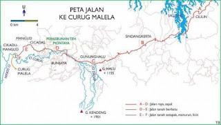 Peta menuju air terjun malela