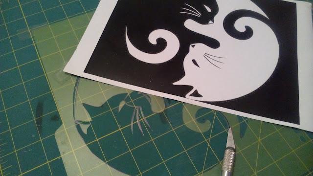 Plantilla y dibujo para hacer serigrafía en casa