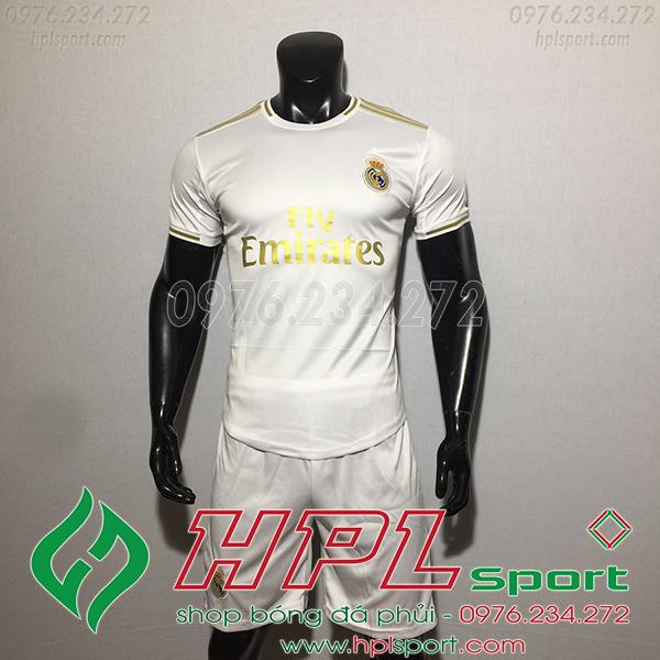 Áo bóng đá câu lạc bộ Real trắng 2020
