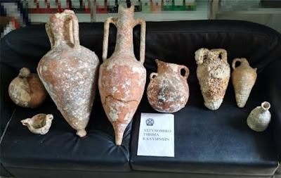 Σύλληψη δύο ανδρών στην Κάλυμνο για παράνομη κατοχή αρχαίων