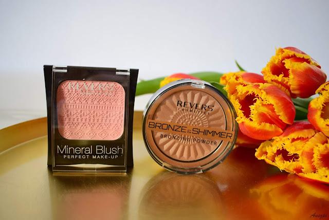 Róż do policzków Mineral Blush Perfect make-up i puder brązująco-rozświetlający Bronze&Shimmer Revers