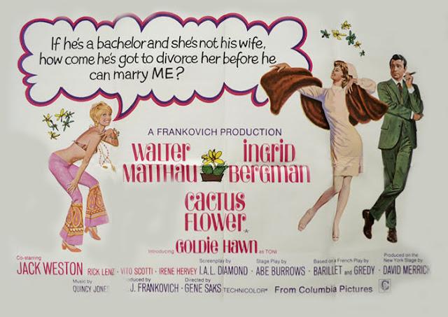 Quentin Tarantino's Swinging Sixties - Cactus Flower Film Poster - Gene Saks,1969
