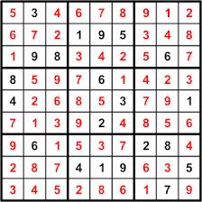 Sudoku example solution