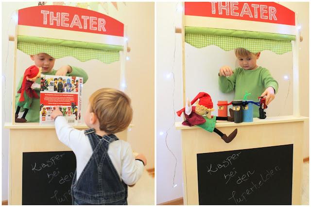 Kasperltheater Stand roba Theaterstueck fuer Kinder Jules kleines Freudenhaus
