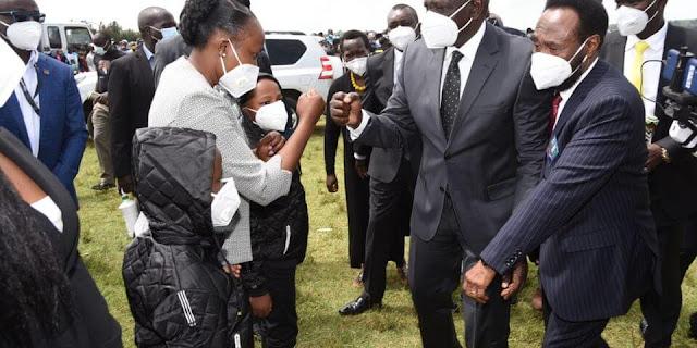 DP William Ruto at Uasin Gishu county assembly member burial photo
