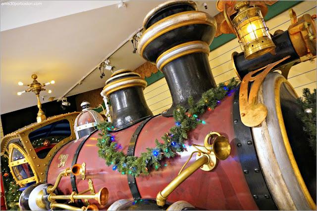 Tren del Santaland en el Macy's Herald Square, Nueva York