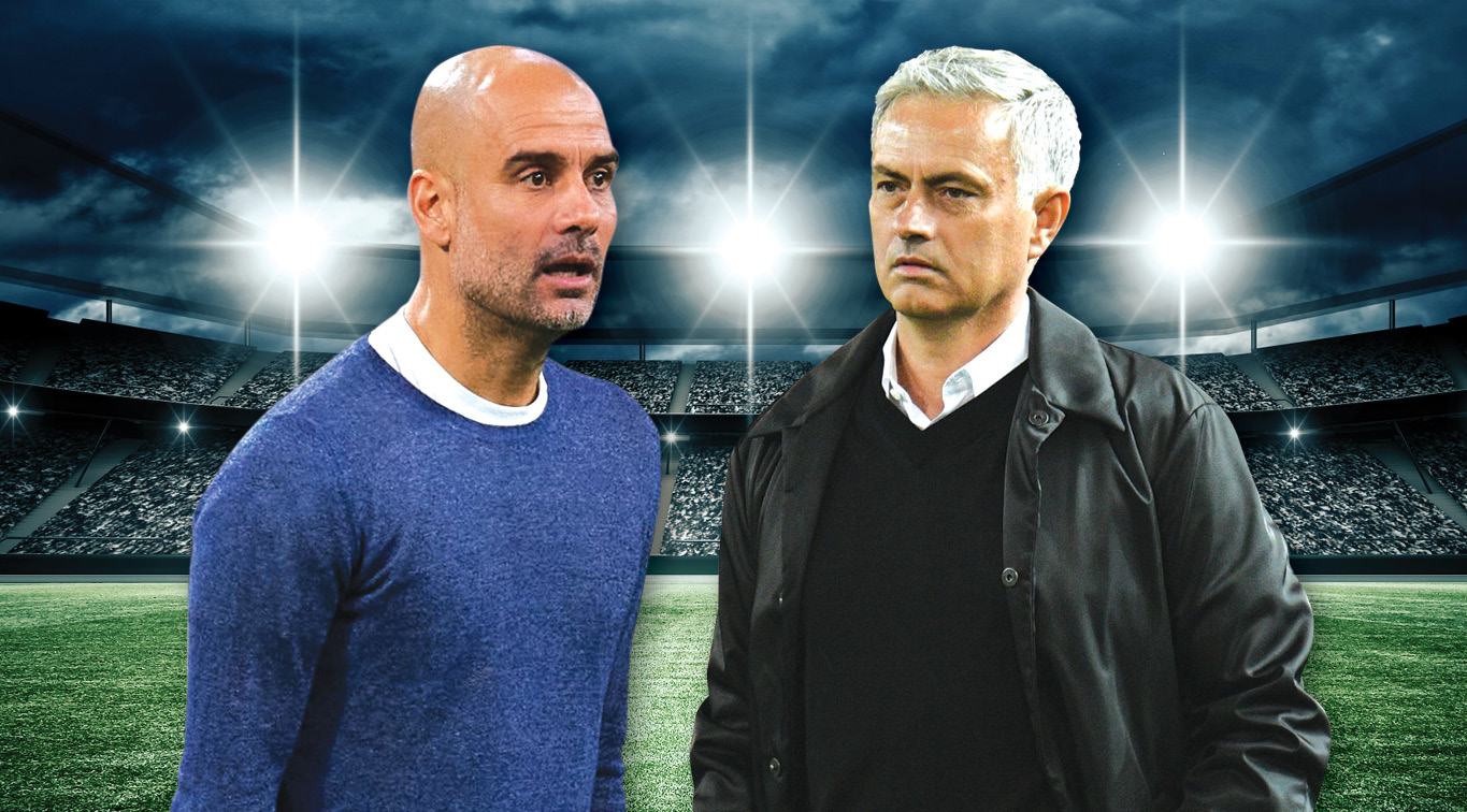 Old rivalries will be renewed when Pep Guardiola's Man City host Jose Mourinho's Tottenham this Sunday
