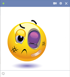 Emoticon with black eye
