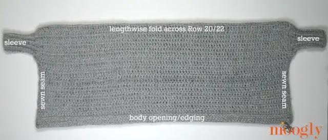 Cocoon Cardigan a crochet – tutorial paso a paso