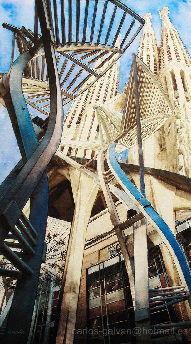 16-Sagrada-Familia-Carlos-Galvan-Fantasy-Cityscapes-depicted-in-Paintings-www-designstack-co