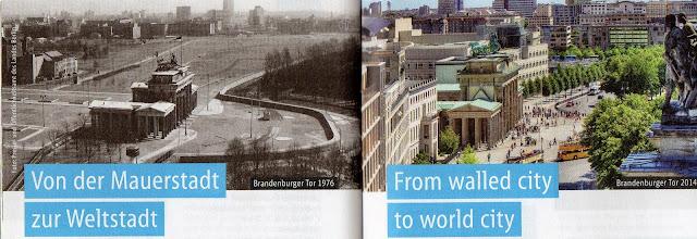 Portão de Brandemburgo durante e após o Muro de Berlim