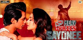 Sayonee Lyrics By Arijit Singh