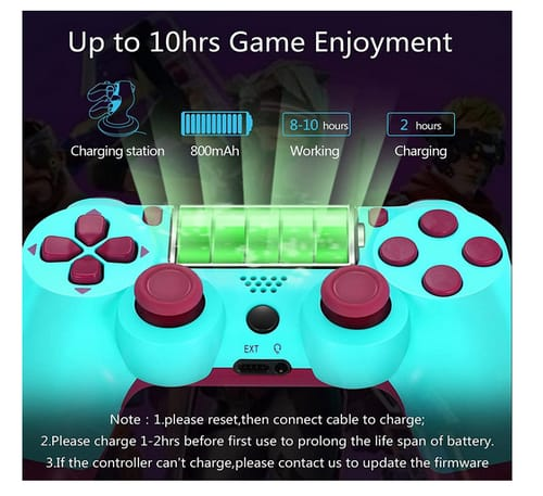 YU33 AG-8 Double Shock PS4 Wireless Remote Controller