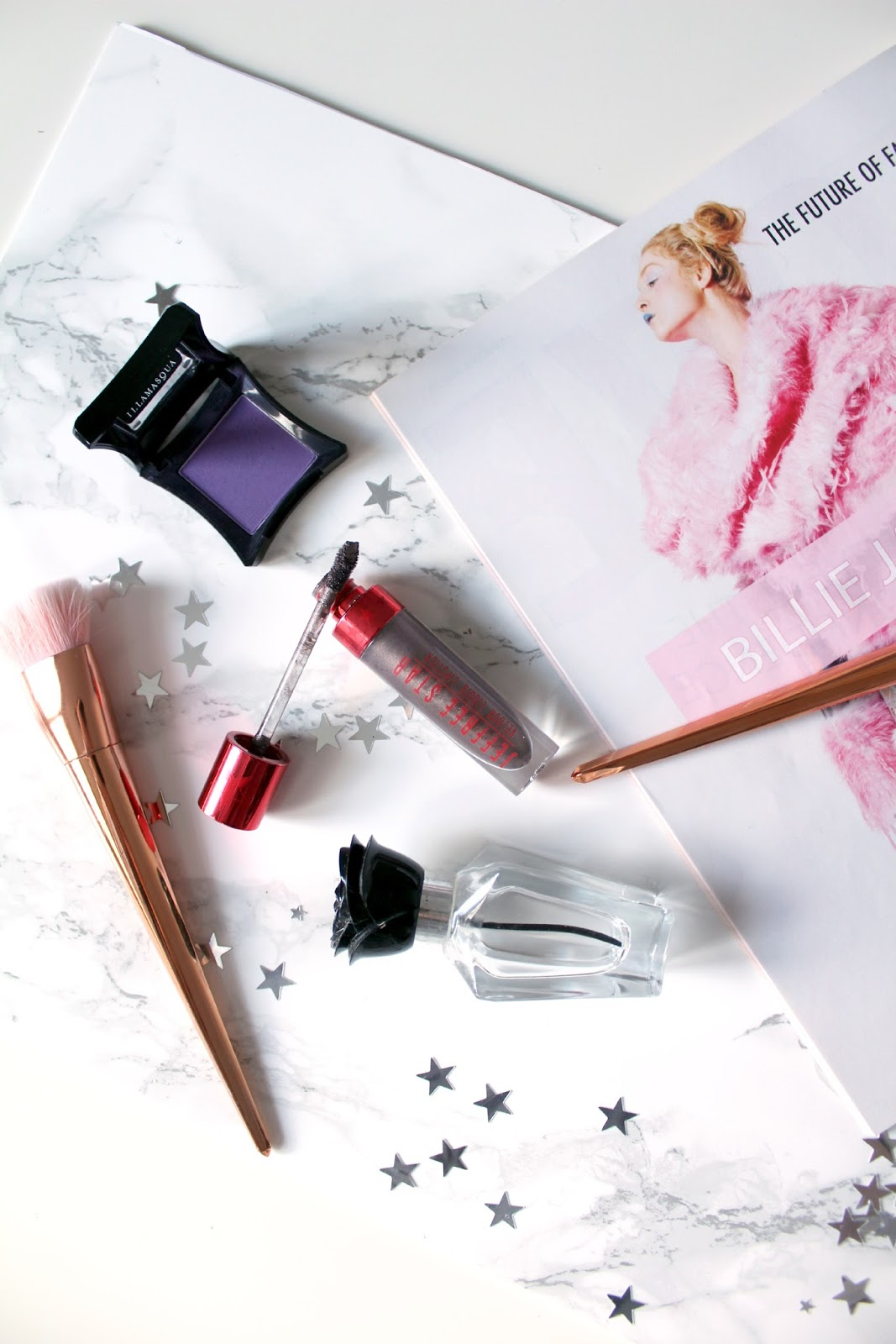beauty flatlay, make-up,  blogging flat lay, magazine flat lay