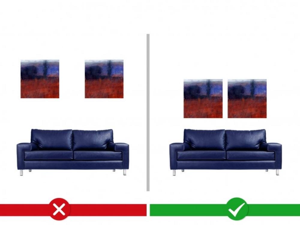 Bilder_richtig_aufhängen_über_Sofa