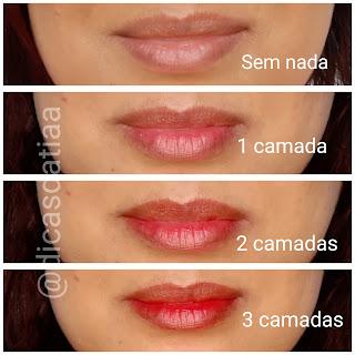 resenha Lip Tint Soul Tint Mood Eudora  Vermelho dicas da tia efeito