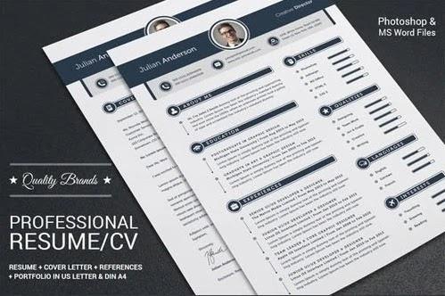 download template cv gratis indonesia