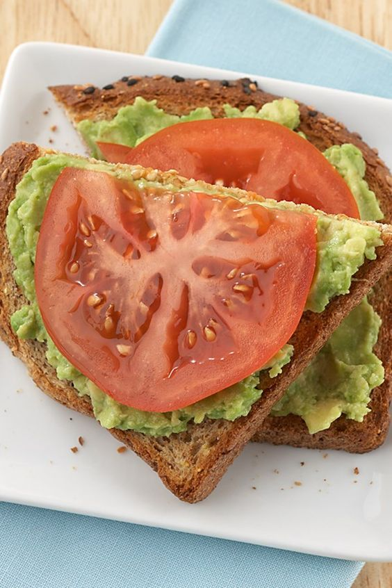 Avocado-Tomato Open-Face Sandwich #recipes #healthyfoodrecipes #food #foodporn #healthy #yummy #instafood #foodie #delicious #dinner #breakfast #dessert #lunch #vegan #cake #eatclean #homemade #diet #healthyfood #cleaneating #foodstagram