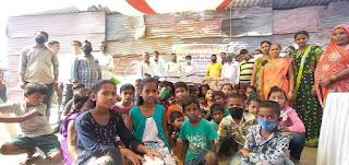 भारतीय सदविचार मंच ने की 78 गरीब परिवारों की मदद  | #NayaSaberaNetwork