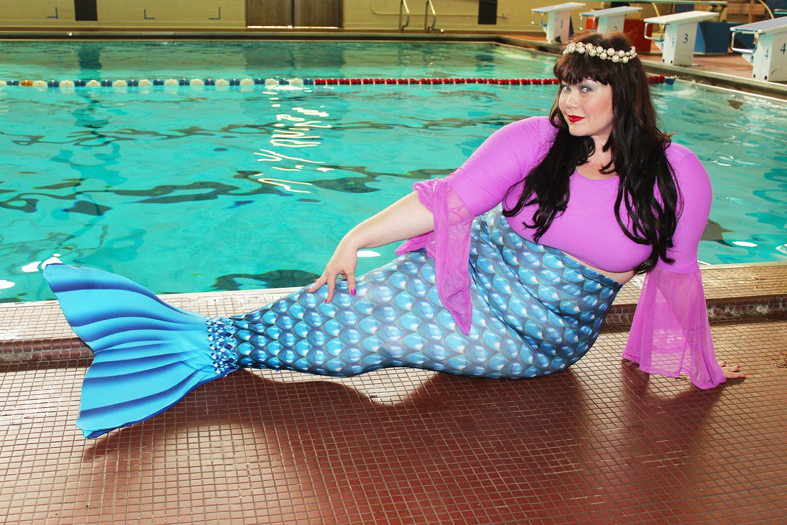 Plus Size Mermaid, Mermaid, Aquamermaid, mermaid classes, mermaid Chicago, Plus Size blogger, Style Plus Curves