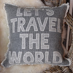 Kissen zum träumen: Let´s travel the world