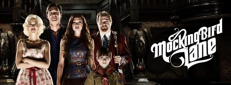 'Mockingbird Lane' promo shot with logo and main cast