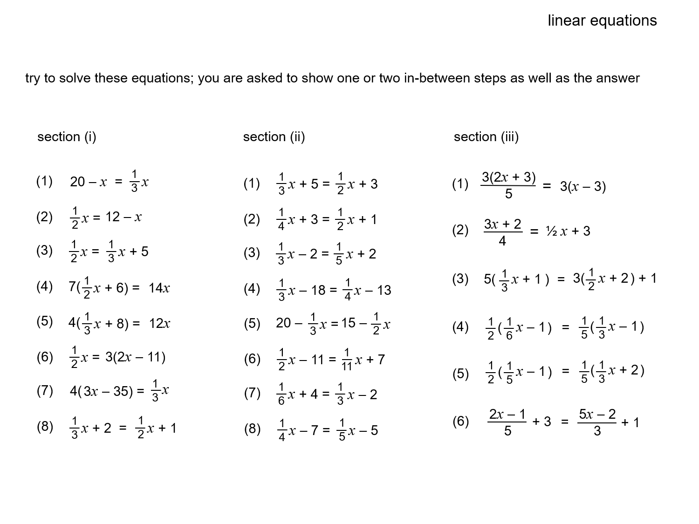 Median Don Steward Mathematics Teaching Linear Equations