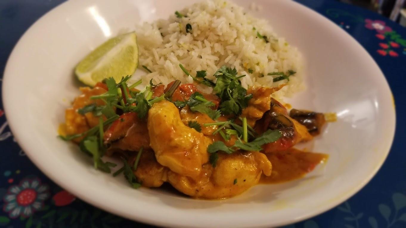 HelloFresh Thai chicken with cilantro rice