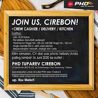 Lowongan Kerja PHD Pizza Hut Delivery Cirebon Terbaru 2020